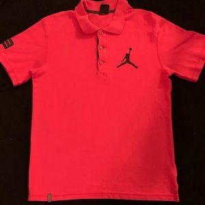 BNWOT! mens jordan button polo shirt size Medium